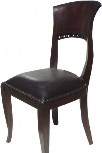 stuhl kolonialstil aus leder. Black Bedroom Furniture Sets. Home Design Ideas