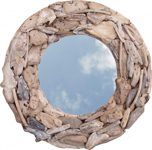 Spiegel rund aus Treibholz 60 cm Durchmesser