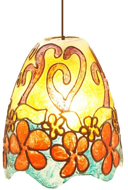 Deckenlampe fiberglas bunte bl ten 22 cm h 24 cm for Bunte stehlampen